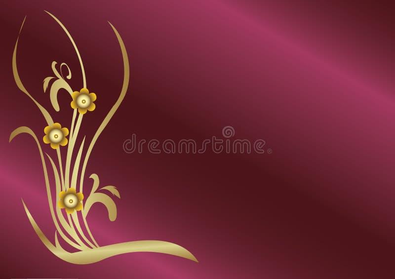 χρυσός λουλουδιών διανυσματική απεικόνιση