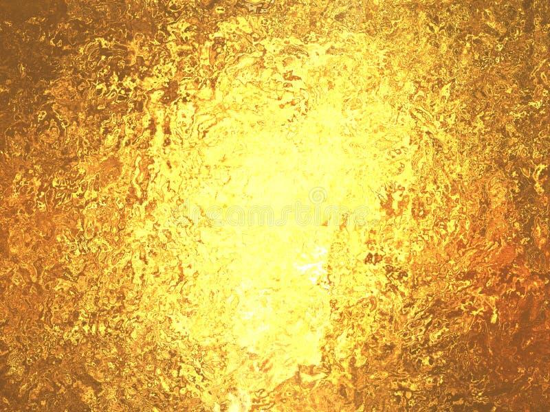 χρυσός μεταλλικός θαυμάσιος φύλλων αλουμινίου ανασκόπησης ελεύθερη απεικόνιση δικαιώματος