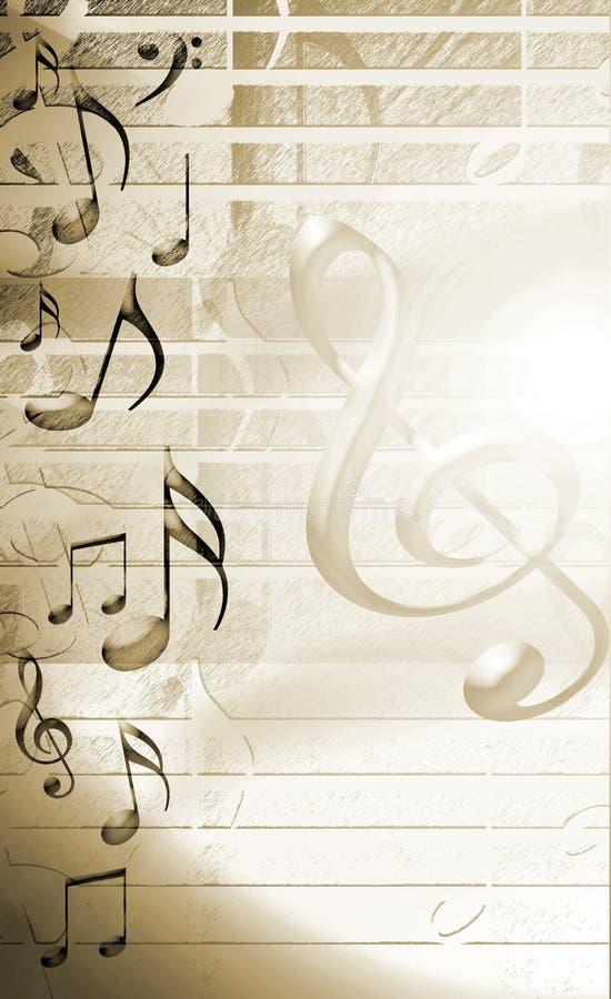 χρυσός μουσικός ανασκόπη ελεύθερη απεικόνιση δικαιώματος