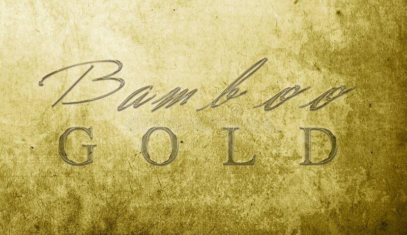 Χρυσός μπαμπού στοκ εικόνα