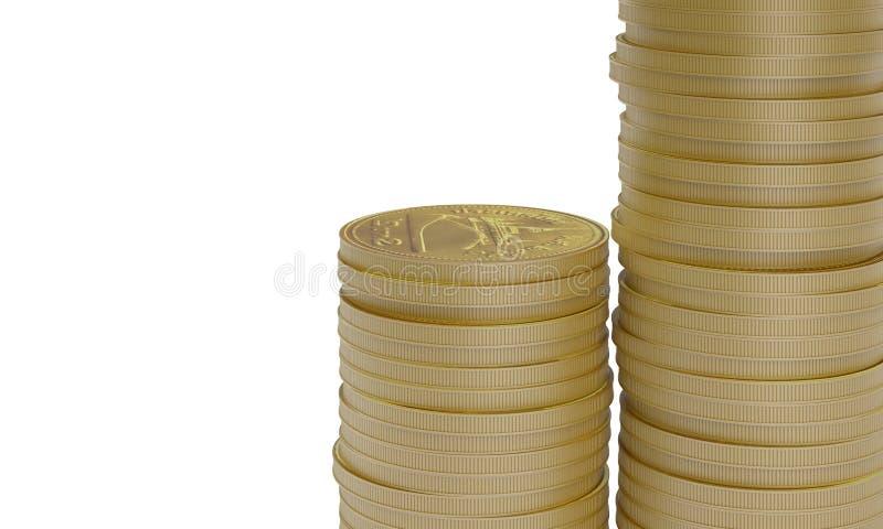 χρυσός νομισμάτων που απ&omicron διανυσματική απεικόνιση