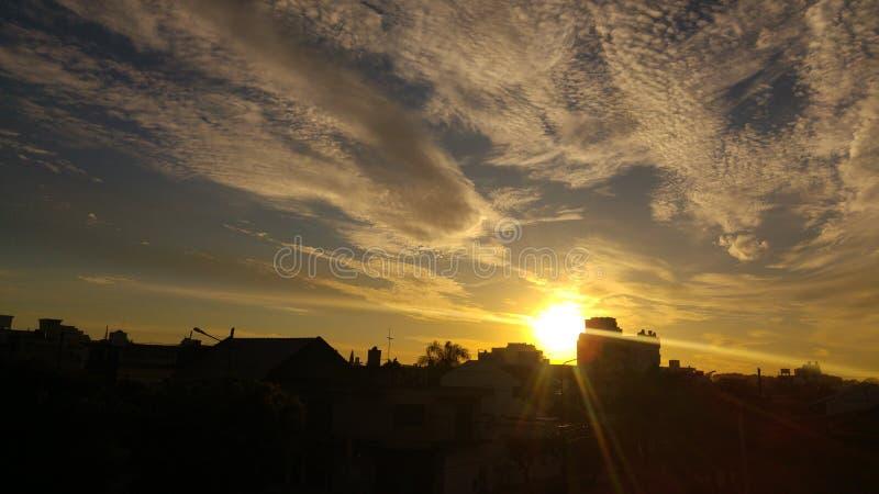 Χρυσός ουρανός στοκ εικόνα με δικαίωμα ελεύθερης χρήσης