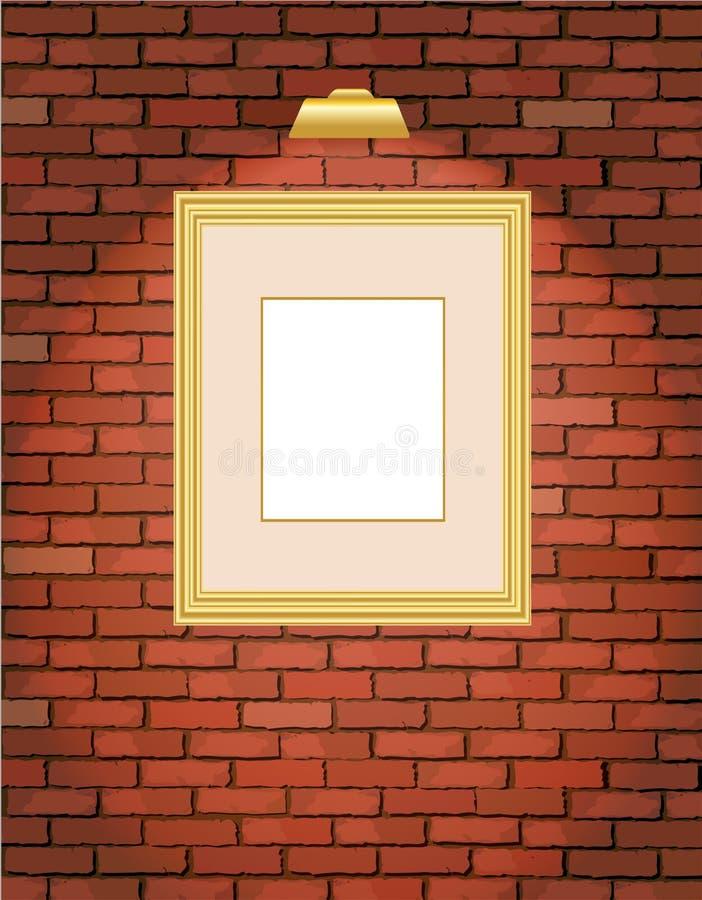 χρυσός παλαιός τοίχος πλ&a διανυσματική απεικόνιση