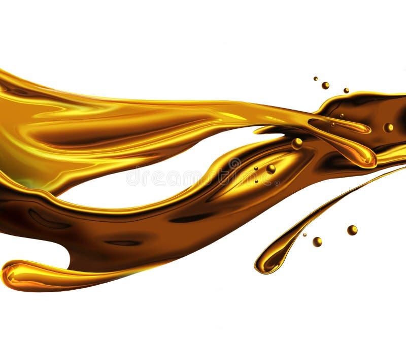 χρυσός παφλασμός διανυσματική απεικόνιση