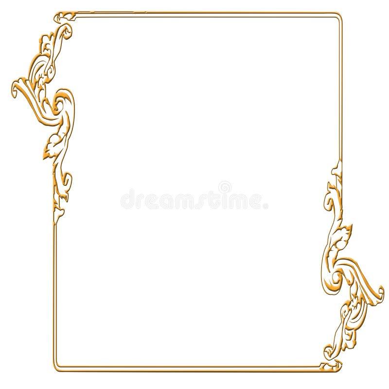 χρυσός πλαισίων ορθογώνιος απεικόνιση αποθεμάτων