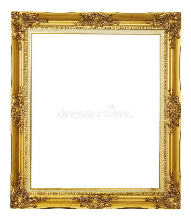 χρυσός πλαισίων που απομ&o στοκ εικόνα με δικαίωμα ελεύθερης χρήσης