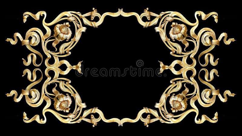 χρυσός πλαισίων στοκ εικόνα με δικαίωμα ελεύθερης χρήσης