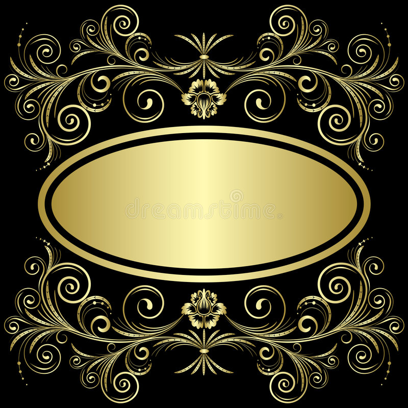 χρυσός πλαισίων απεικόνιση αποθεμάτων