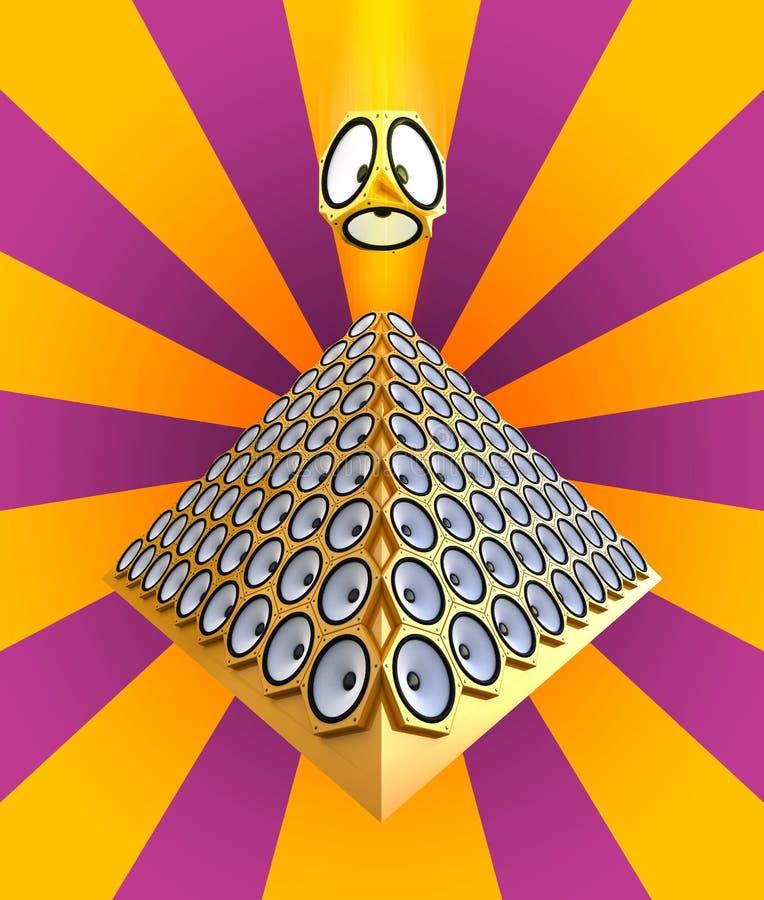 χρυσός πολλοί σύγχρονοι ομιλητές πυραμίδων στοκ φωτογραφίες