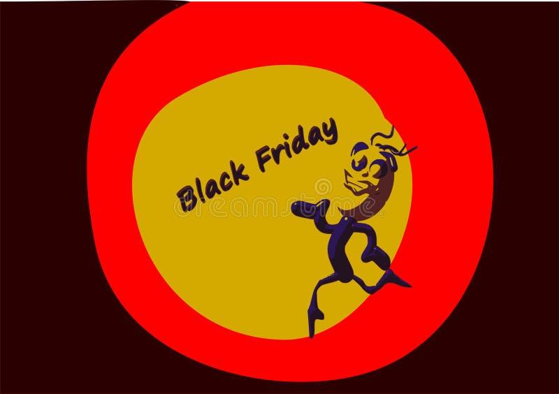 Χρυσός που ανταλλάσσει τη μαύρη τρισδιάστατη απόδοση πώλησης Παρασκευής στοκ φωτογραφία με δικαίωμα ελεύθερης χρήσης