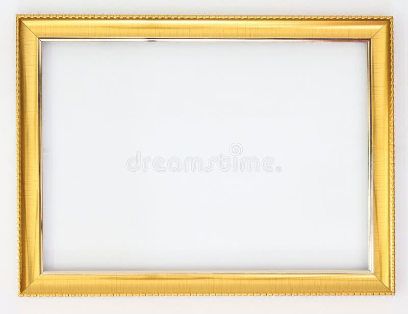 Χρυσός πλαισίων σε ένα άσπρο υπόβαθρο στοκ φωτογραφίες