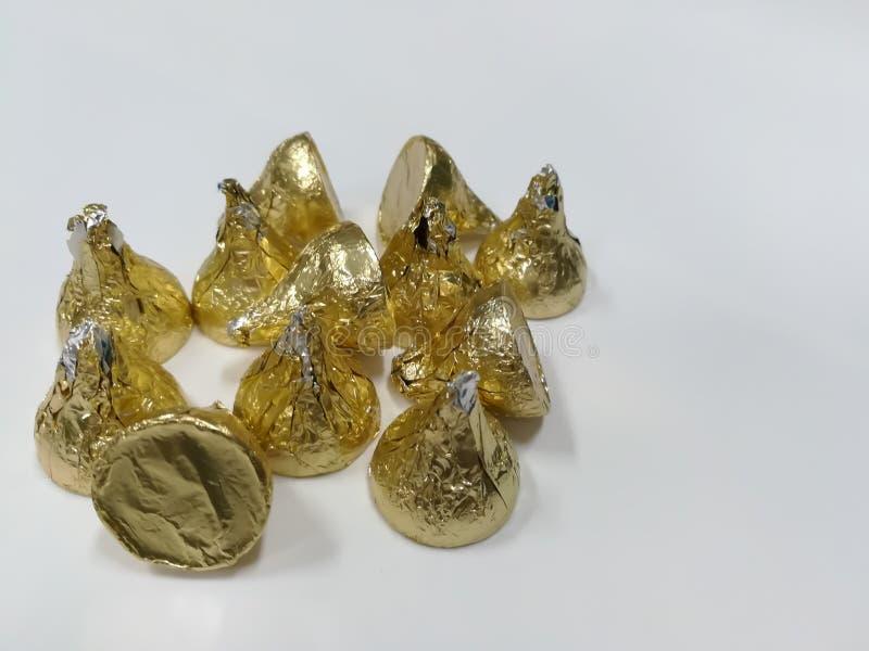 Χρυσός σοκολάτας στοκ εικόνες