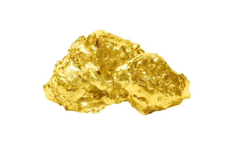 Χρυσός στενός επάνω ράβδου που απομονώνεται στο άσπρο υπόβαθρο στοκ φωτογραφία με δικαίωμα ελεύθερης χρήσης
