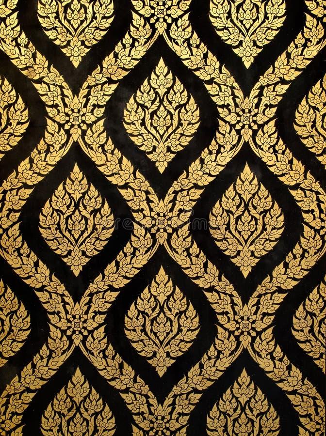 χρυσός τέχνης που Ταϊλανδό&s στοκ εικόνα