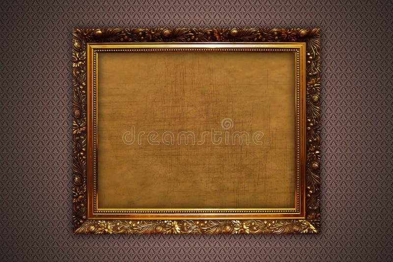 χρυσός τοίχος πλαισίων ελεύθερη απεικόνιση δικαιώματος