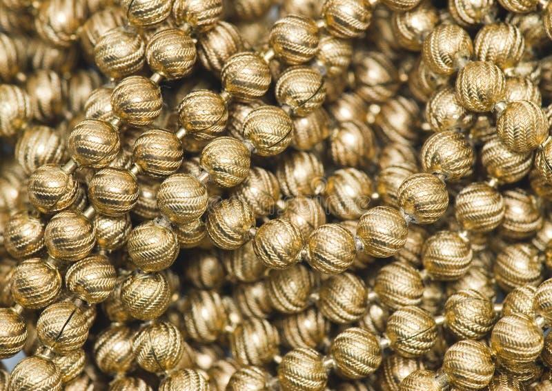 χρυσός χαντρών στοκ εικόνες