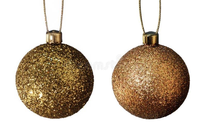 χρυσός Χριστουγέννων σφαιρών στοκ φωτογραφίες με δικαίωμα ελεύθερης χρήσης