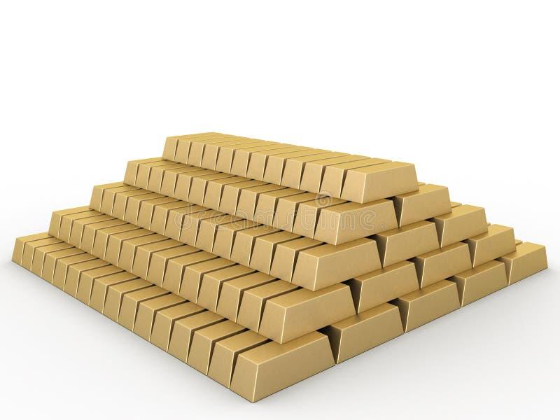 χρυσός 2 ράβδων απεικόνιση αποθεμάτων