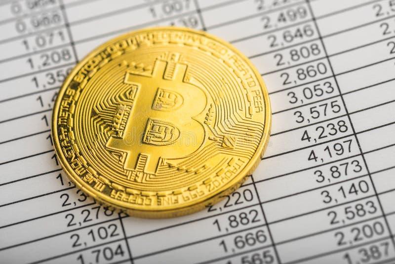 Χρυσός bitcoin στοκ εικόνα
