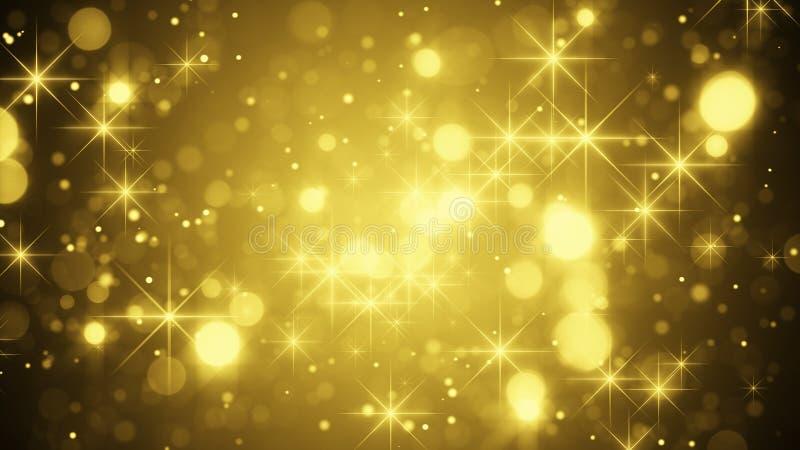 Χρυσός bokeh και σπινθηρίσματα απεικόνιση αποθεμάτων
