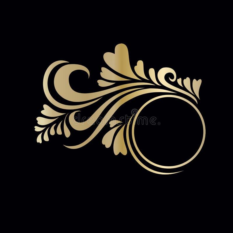 Χρυσός decals πλαισίων στοκ φωτογραφία με δικαίωμα ελεύθερης χρήσης