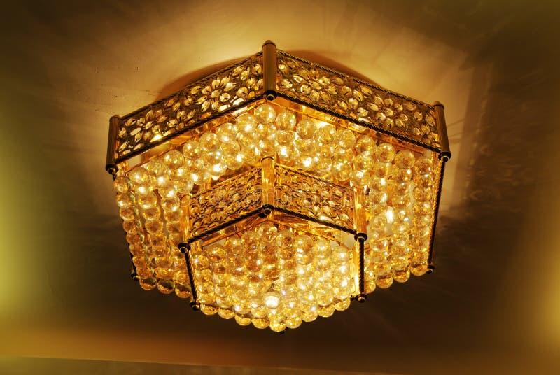 χρυσός hexagon λαμπτήρας στοκ εικόνες