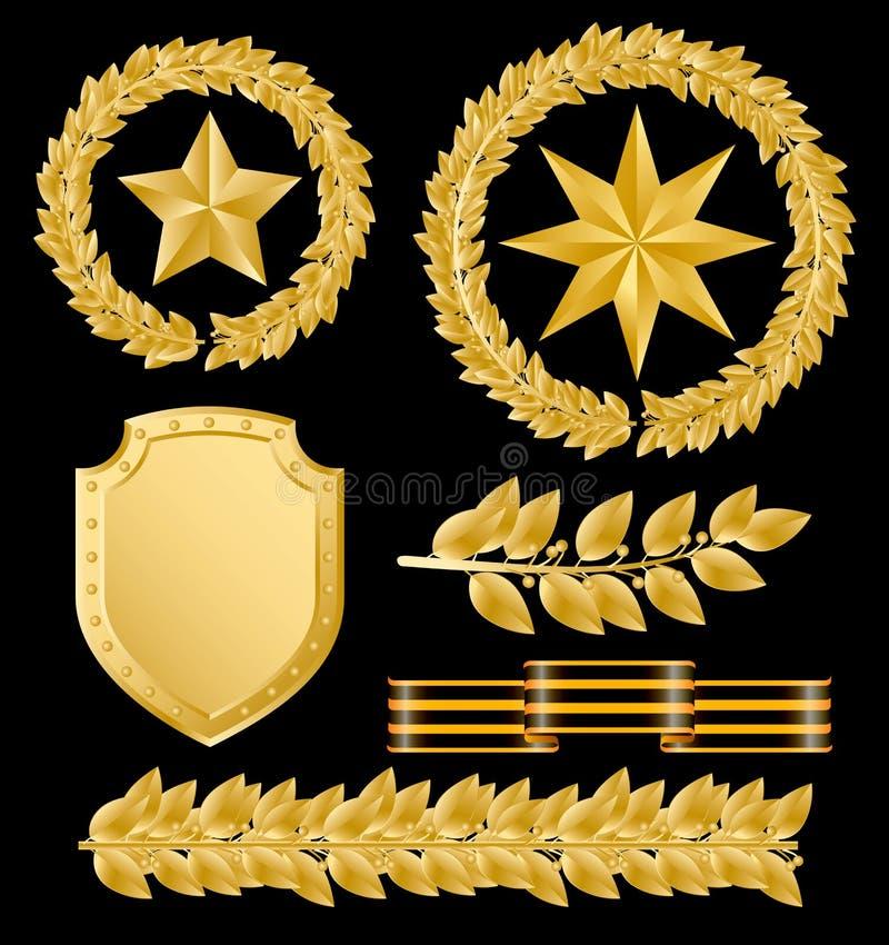 χρυσός laurels ελεύθερη απεικόνιση δικαιώματος