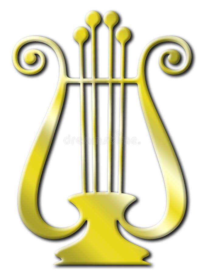 χρυσός lyre απεικόνιση αποθεμάτων