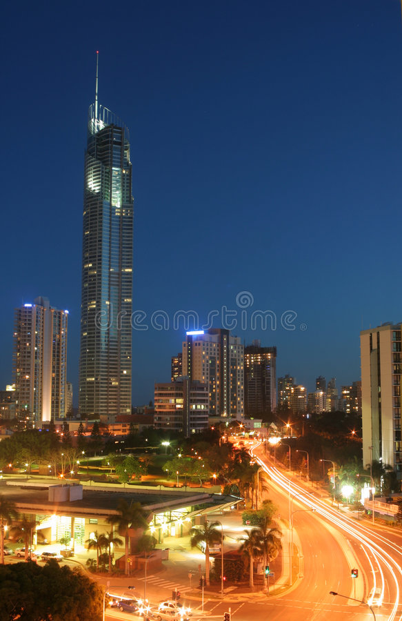 χρυσός q1 πύργος ακτών στοκ φωτογραφίες