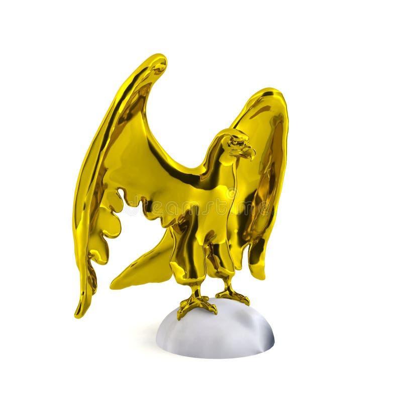 Χρυσό άγαλμα αετών ελεύθερη απεικόνιση δικαιώματος