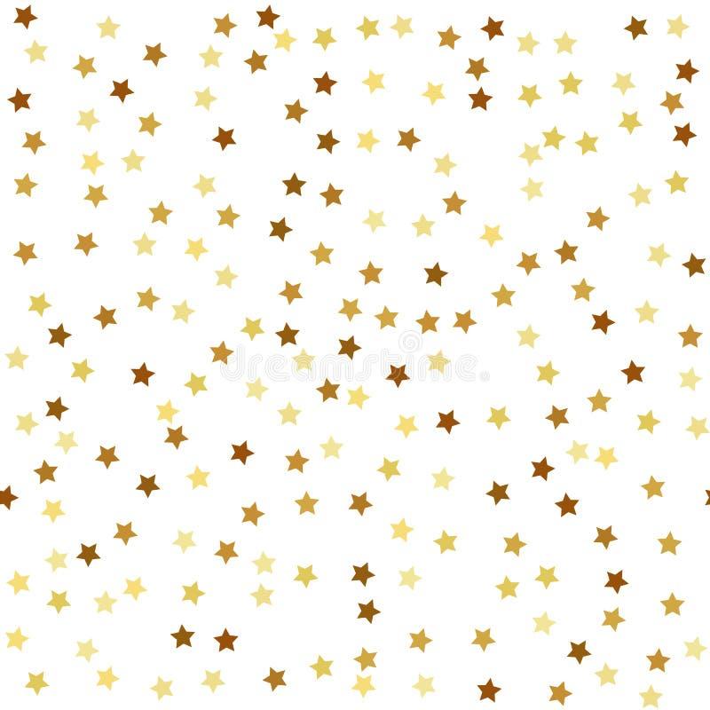 Χρυσό άνευ ραφής σχέδιο αστεριών ελεύθερη απεικόνιση δικαιώματος