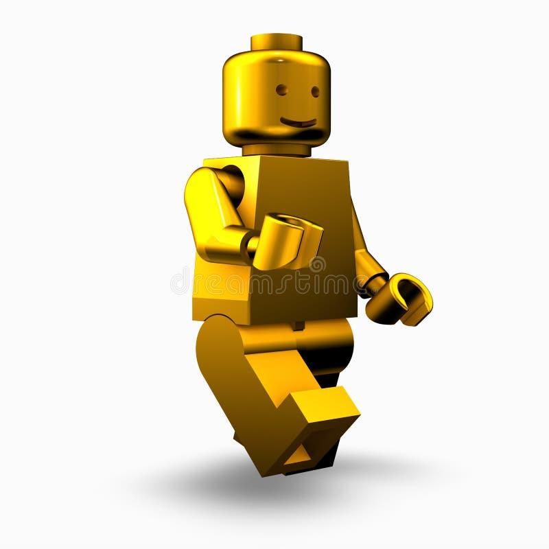 χρυσό άτομο lego απεικόνιση αποθεμάτων