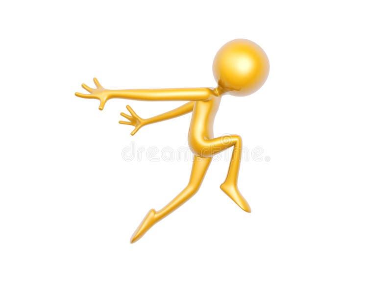 Χρυσό άλμα χορού τύπων που απομονώνεται στο άσπρο υπόβαθρο διανυσματική απεικόνιση