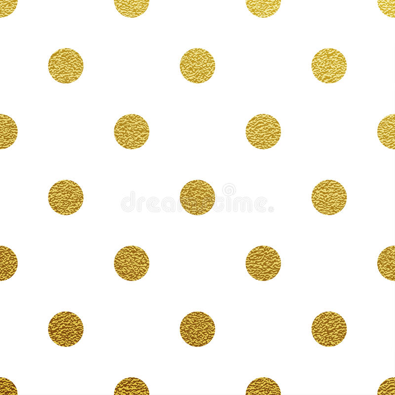 Χρυσό ακτινοβολώντας σχέδιο σημείων Πόλκα απεικόνιση αποθεμάτων