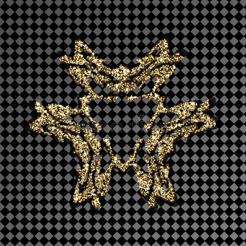 Χρυσό λαμπρό λογότυπο σχεδίων σε ένα διαφανές υπόβαθρο Χρυσό κόσμημα για το σχέδιο κοσμήματος διανυσματική απεικόνιση