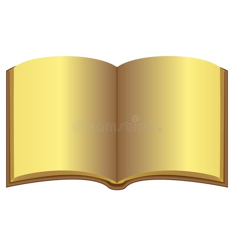Χρυσό ανοικτό βιβλίο ελεύθερη απεικόνιση δικαιώματος