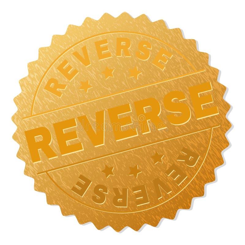 Χρυσό ΑΝΤΙΣΤΡΟΦΟ γραμματόσημο βραβείων διανυσματική απεικόνιση