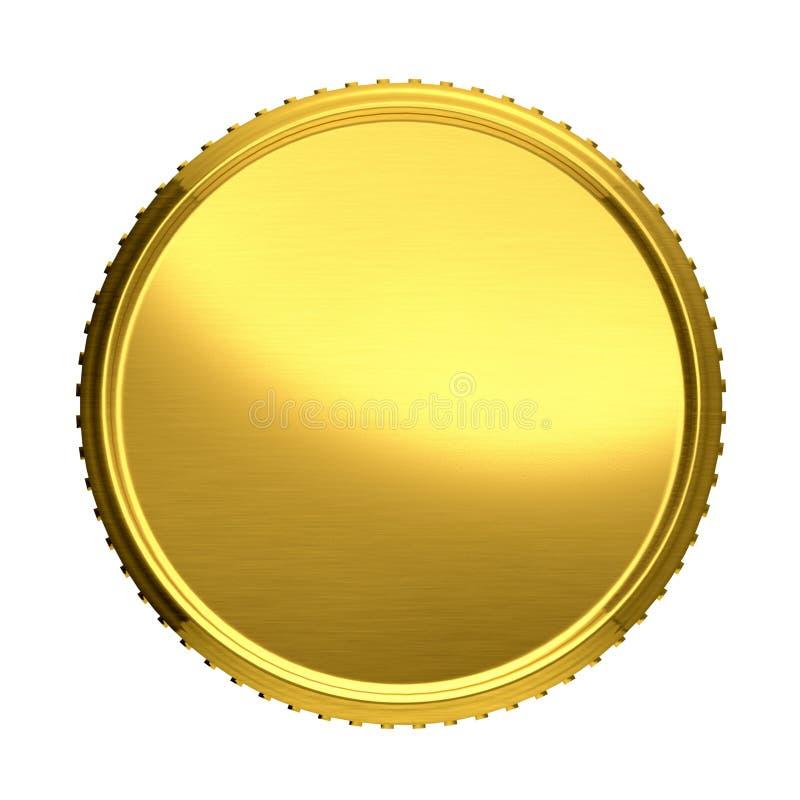 χρυσό απομονωμένο απεικόνιση διανυσματικό λευκό νομισμάτων ανασκόπησης διανυσματική απεικόνιση
