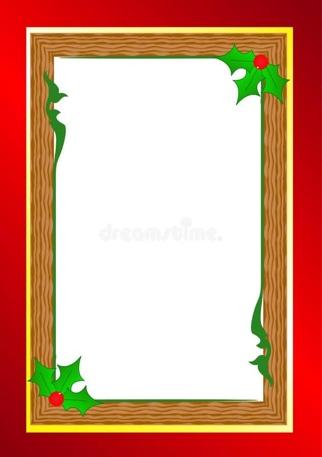 χρυσό απομονωμένο λευκό κορδελλών δώρων Χριστουγέννων κιβωτίων συνόρων ανασκόπησης διανυσματική απεικόνιση