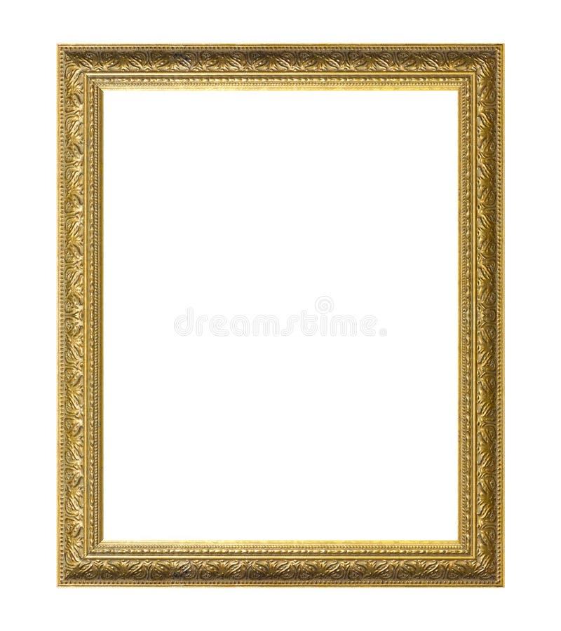 χρυσό απομονωμένο λευκό πλαισίων ανασκόπησης στοκ εικόνες