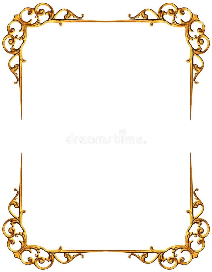 χρυσό απομονωμένο λευκό πλαισίων διανυσματική απεικόνιση