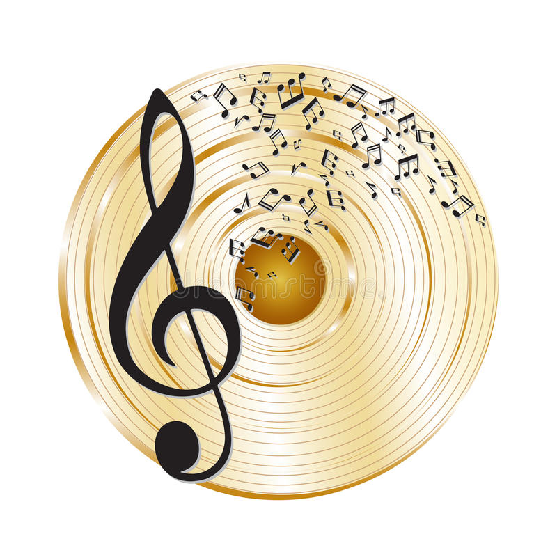 Χρυσό αρχείο μουσικής ελεύθερη απεικόνιση δικαιώματος