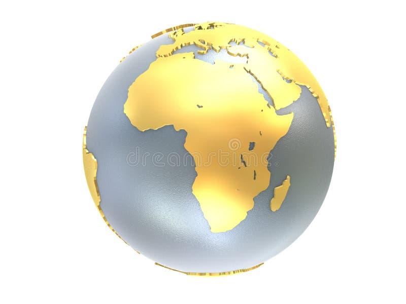 χρυσό ασήμι σφαιρών διανυσματική απεικόνιση