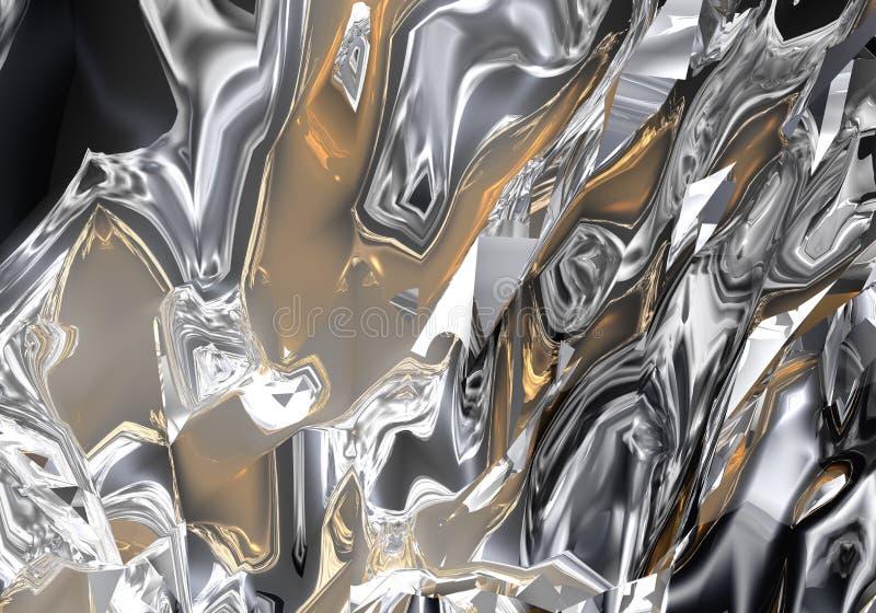 χρυσό ασήμι liuid απεικόνιση αποθεμάτων