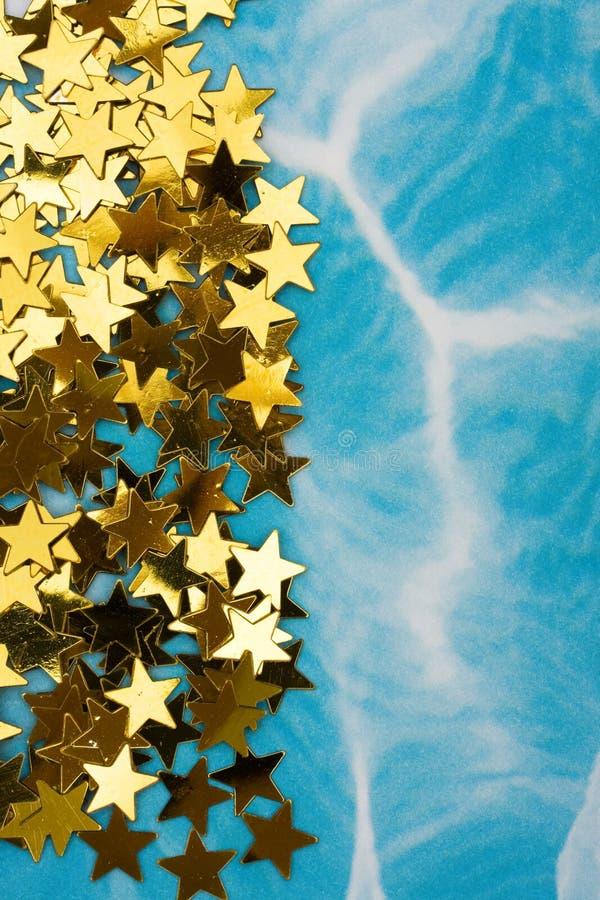 χρυσό αστέρι συνόρων στοκ εικόνα