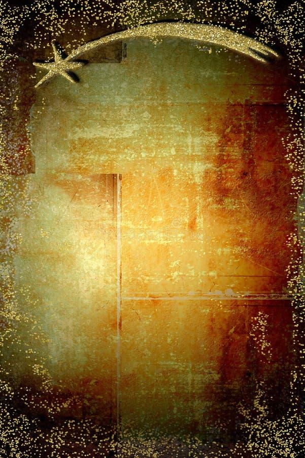 Χρυσό αστέρι της κατακορύφου Χριστουγέννων της Βηθλεέμ απεικόνιση αποθεμάτων