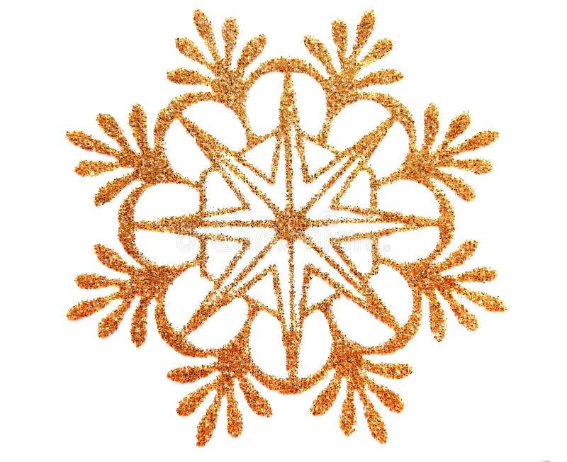 χρυσό αστέρι χιονιού ελεύθερη απεικόνιση δικαιώματος