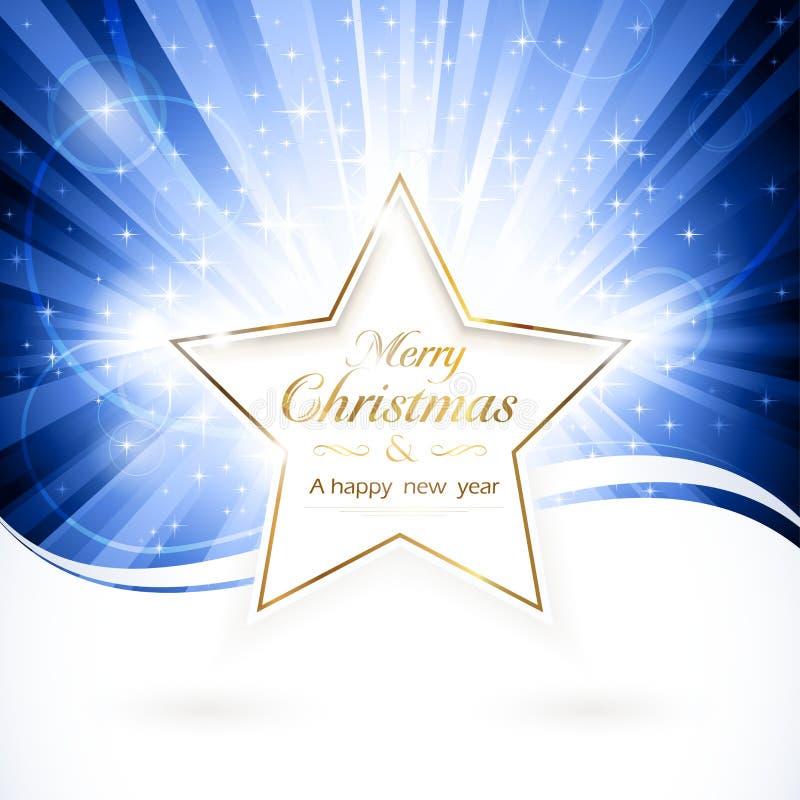 Χρυσό αστέρι Χριστουγέννων διανυσματική απεικόνιση