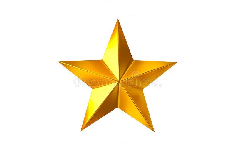 Χρυσό αστέρι στοκ φωτογραφίες με δικαίωμα ελεύθερης χρήσης