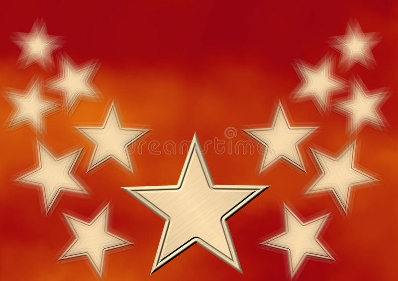 χρυσό αστέρι διανυσματική απεικόνιση